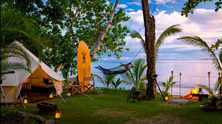 Nanuku Resort Fiji beachfront camping