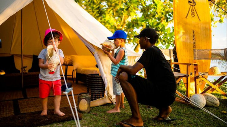 Nanuku Resort Fiji beachfront camping with kids