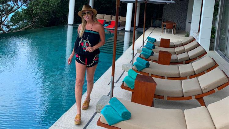 Linda Cooper at Phuket villa