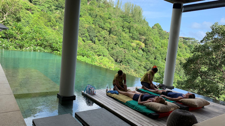 Phuket villa poolside massage