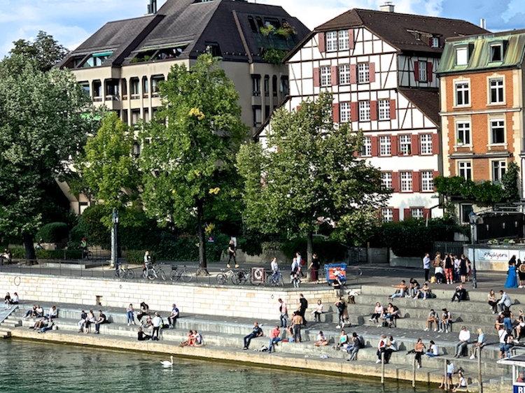Basel river steps
