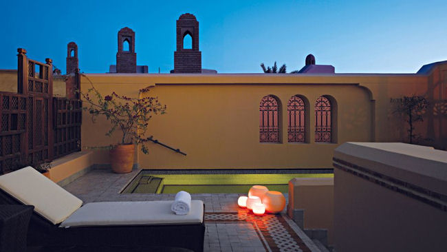 Royal Mansour rooftop pool