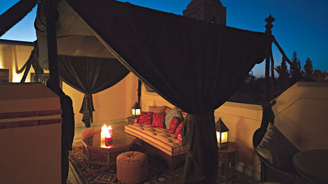 Royal Mansour rooftop tent