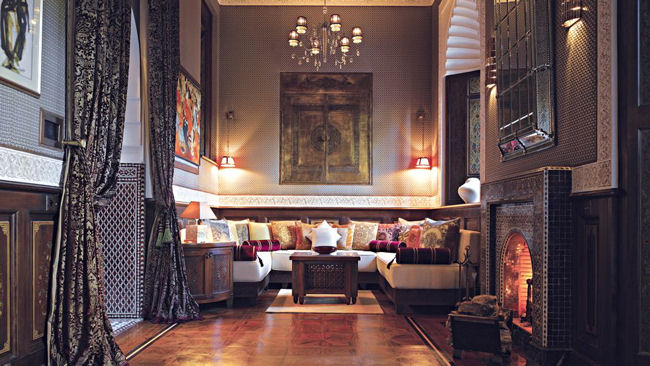Royal Mansour suite sitting room