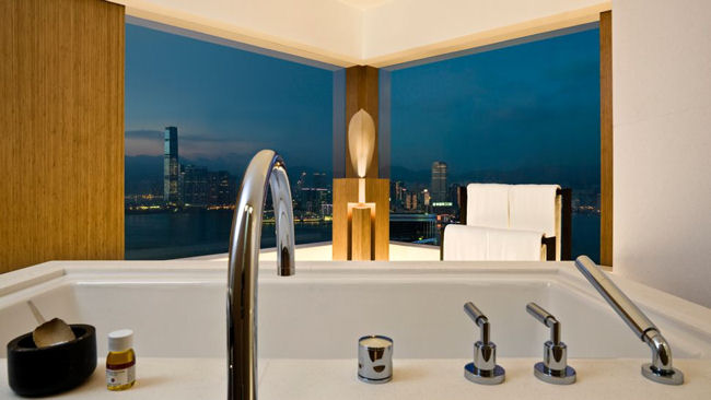 Upper House bathtub view