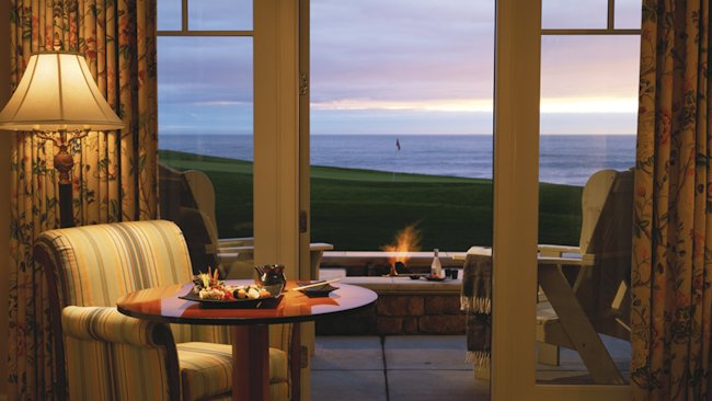 Ritz-Carlton Half Moon Bay fire pit room