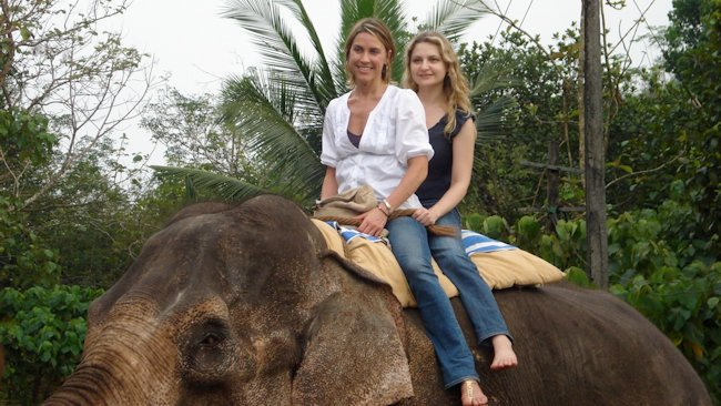 Elephant riding in India