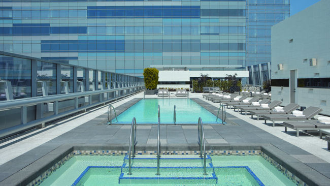 Ritz-Carlton Los Angeles rooftop pool